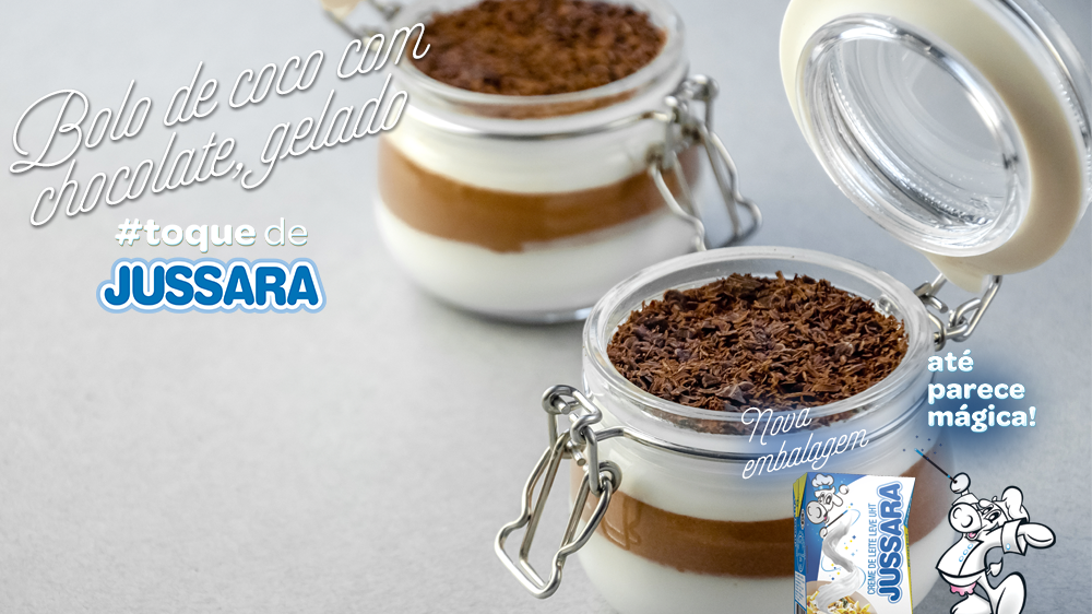 Imagem de Bolo de coco com chocolate gelado