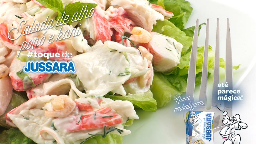 Imagem de Salada de alho poró e kani